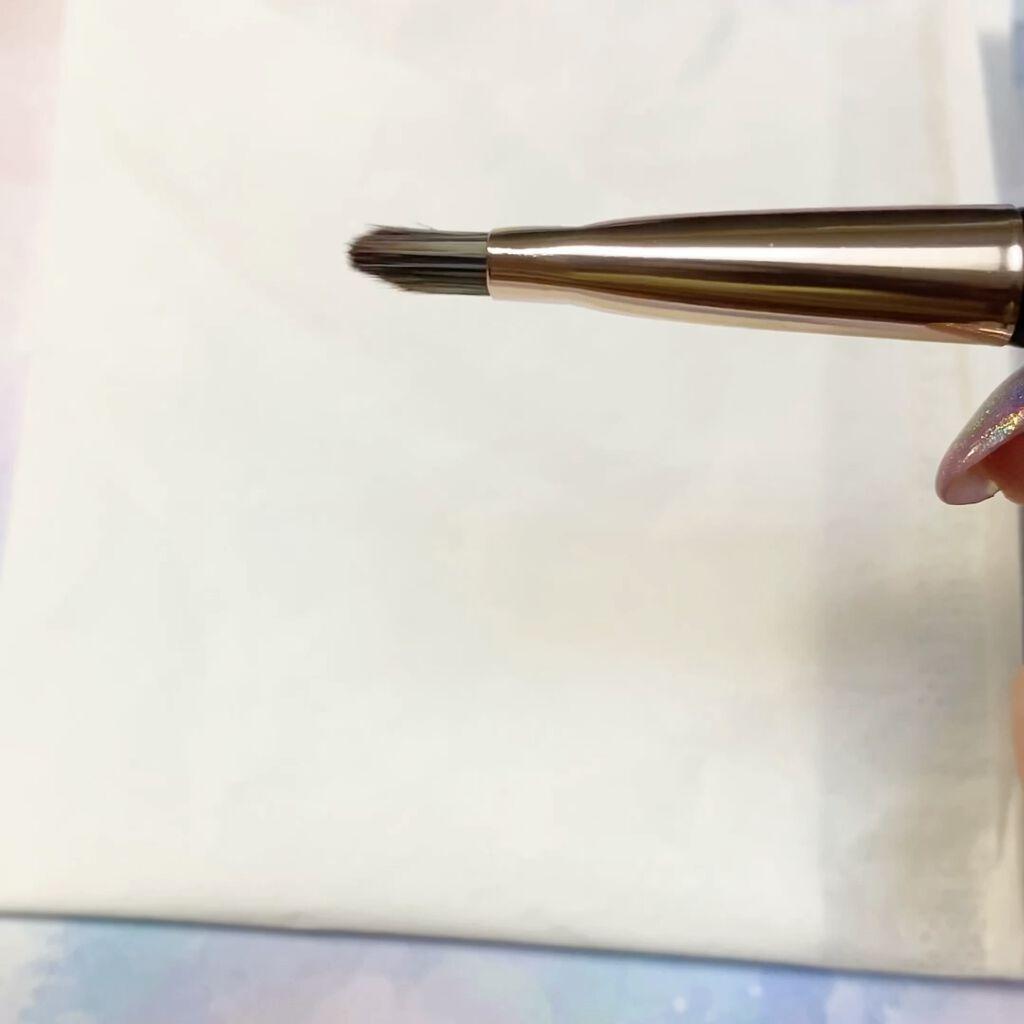 アイブロウブラシ 扇型 熊野筆/WHOMEE/メイクブラシを使ったクチコミ(4枚目)