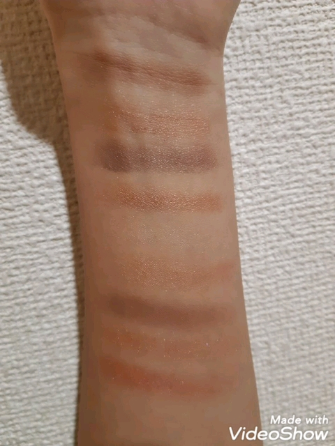 UR GLAM BLOOMING EYE COLOR PALETTE(ブルーミングアイカラーパレット)/DAISO/パウダーアイシャドウを使ったクチコミ(1枚目)