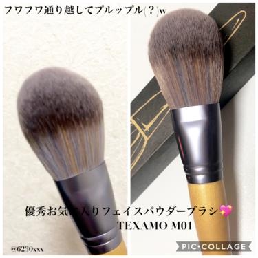 TEXAMO フェイスパウダーブラシ/その他/メイクブラシを使ったクチコミ(1枚目)