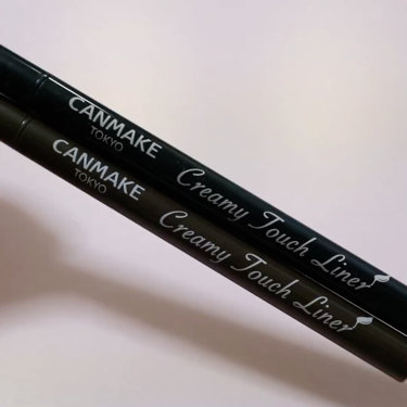 クリーミータッチライナー/CANMAKE/ジェルアイライナーを使ったクチコミ(3枚目)