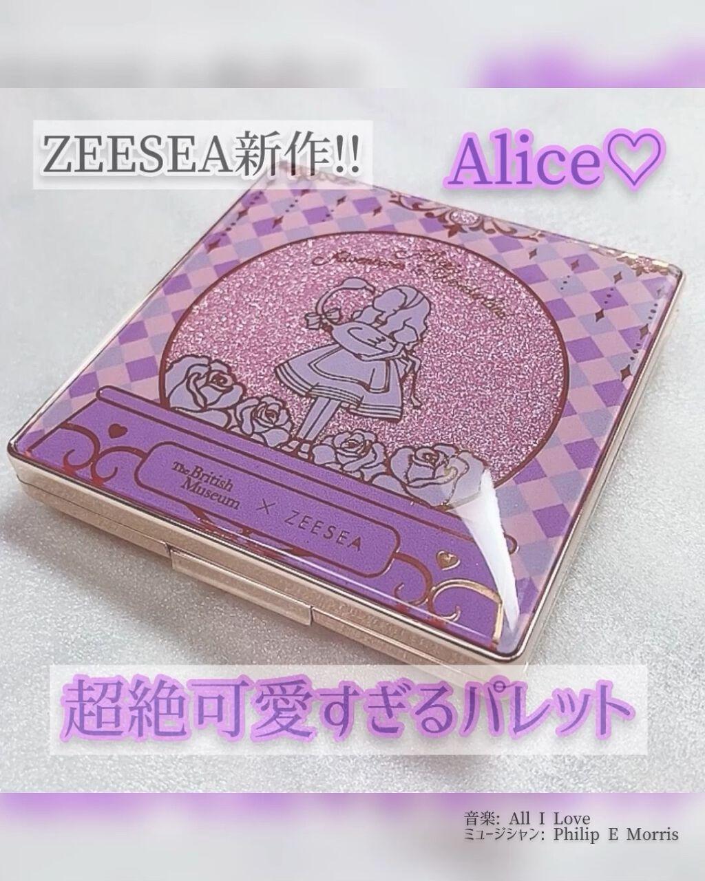 ZEESEA×大英博物館 アリスドリームランドシリーズ アイシャドウパレット(4色)/ZEESEA/パウダーアイシャドウを使ったクチコミ(1枚目)