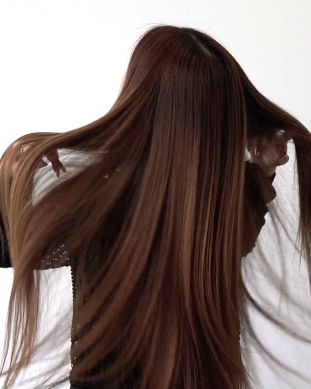 【動画付きクチコミ】【✨SilkyStraightHair✨】ストレートアイロンで簡単!ver.3シルキーストレートヘア◆オススメヘアレングスロブ、ミディアム、セミロング、ロング、スーパーロング◆髪の毛のかたさやややわらかい〜普通◆使用アイテム/温度設定...