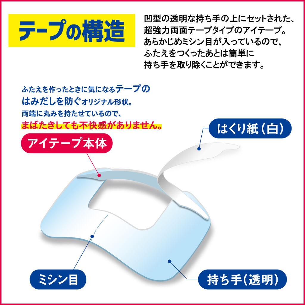 アイトーク ワンタッチアイテープ/アイトーク/二重まぶた用アイテムを使ったクチコミ(2枚目)