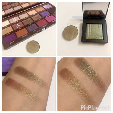 I heart makeup violet chocolate pallet /MAKEUP REVOLUTION/パウダーアイシャドウを使ったクチコミ(3枚目)