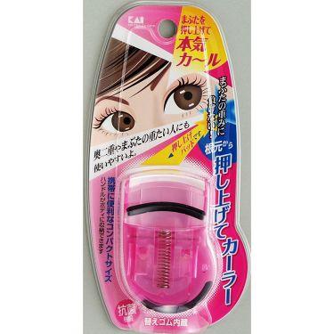 貝印 プッシュアップカーラー(ピンク)