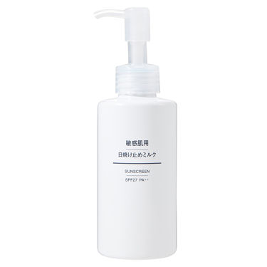 敏感肌用 日焼け止めミルク SPF27・PA++ / 無印良品