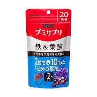 グミサプリ 鉄&葉酸 20日分 UHA味覚糖
