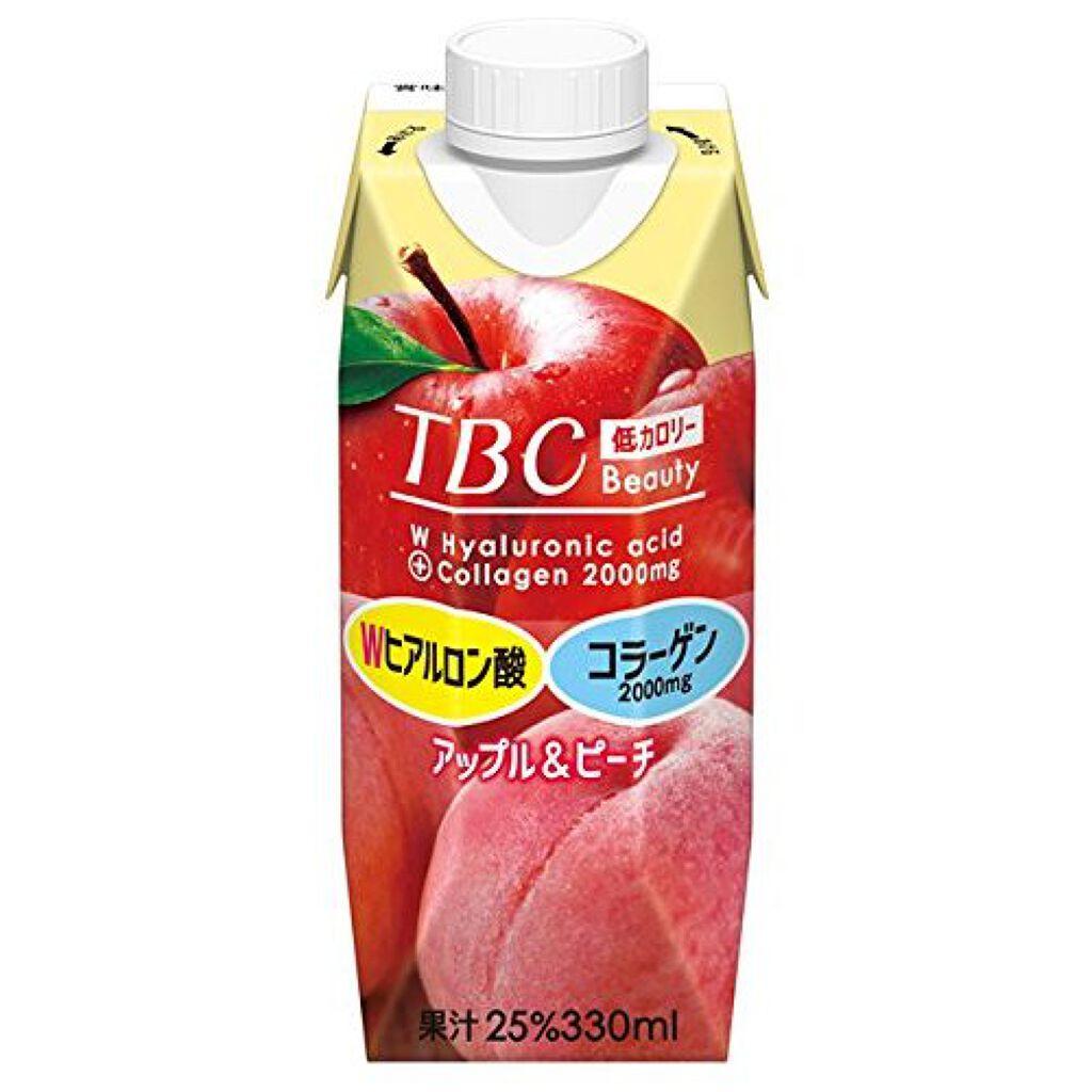 TBC Wヒアルロン酸+コラーゲン アップル&ピーチ 森永乳業
