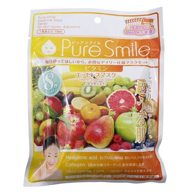 Pure Smile(ピュアスマイル) エッセンスマスク 毎日マスク8枚セット ビタミン
