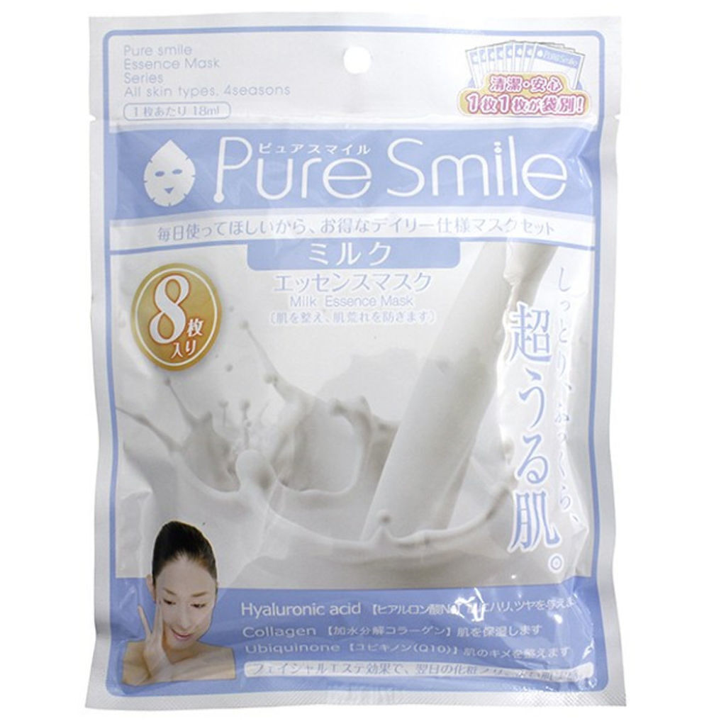 Pure Smile(ピュアスマイル) エッセンスマスク 毎日マスク8枚セット ミルク