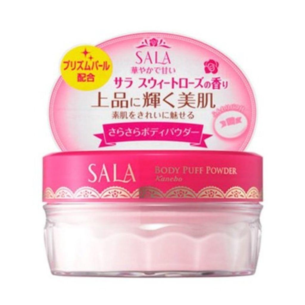SALA(サラ),ボディパフパウダーN プリズムパール(サラ スウィートローズの香り)