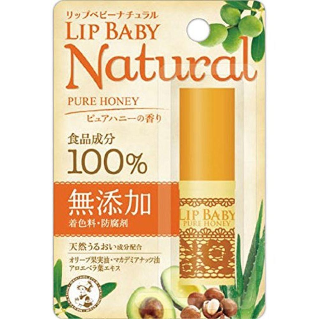 リップベビーナチュラル ピュアハニーの香り メンソレータム