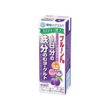 プルーンFe 1日分の鉄分 のむヨーグルト カロリーオフ 雪印メグミルク