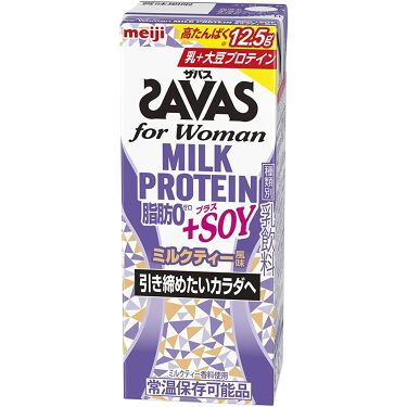 for woman MILK PROTEIN 脂肪0 +SOY ザバス