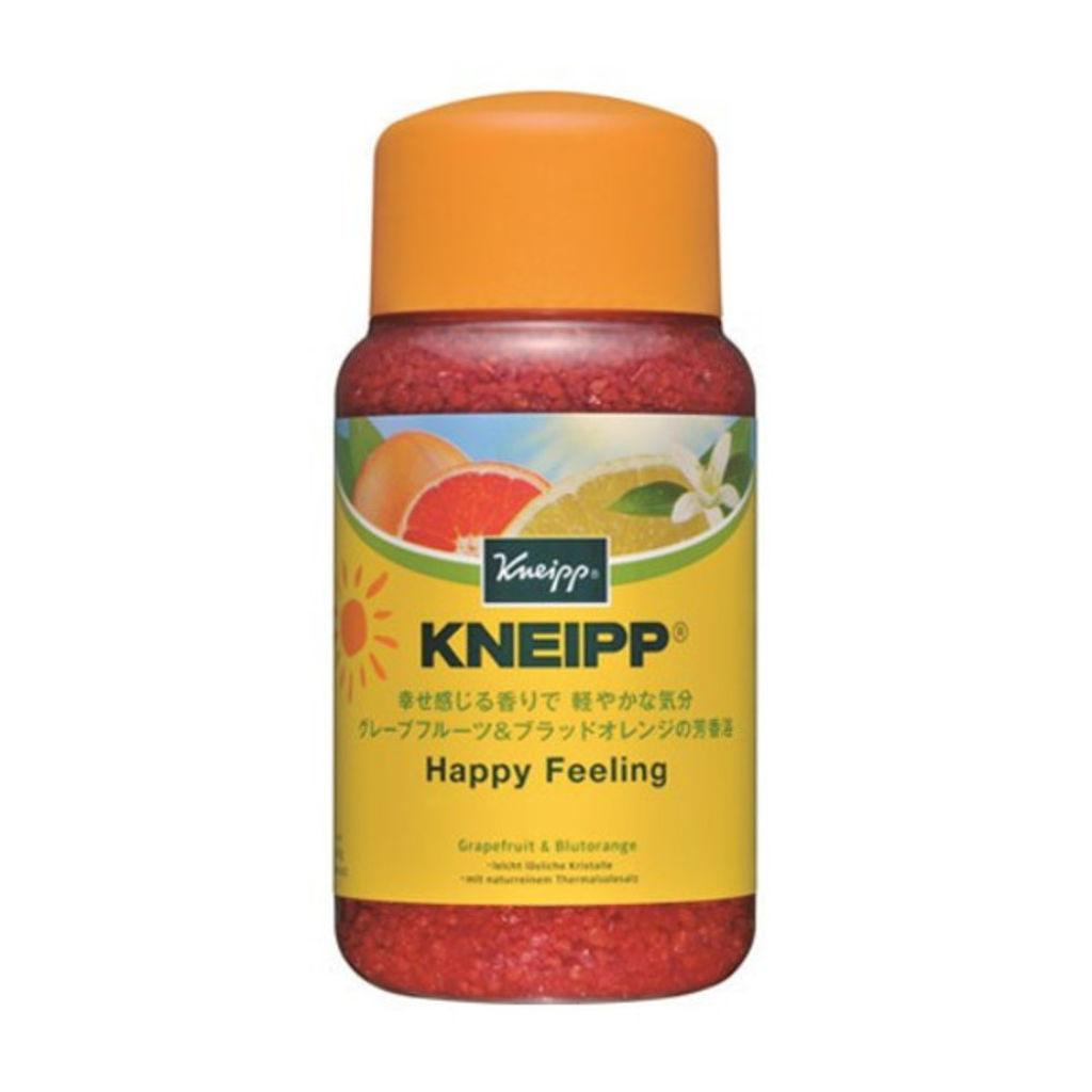 クナイプのバスソルト ハッピーフィーリング グレープフルーツ&ブラッドオレンジの香り
