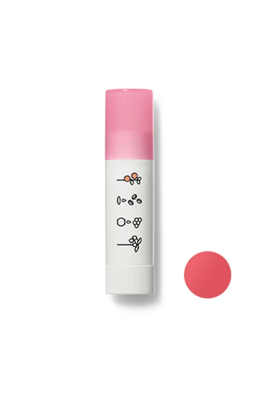 ほんのり色づくリップクリームヌードピンク(アップルの香り)