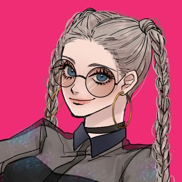 メガネをかけた○ー○